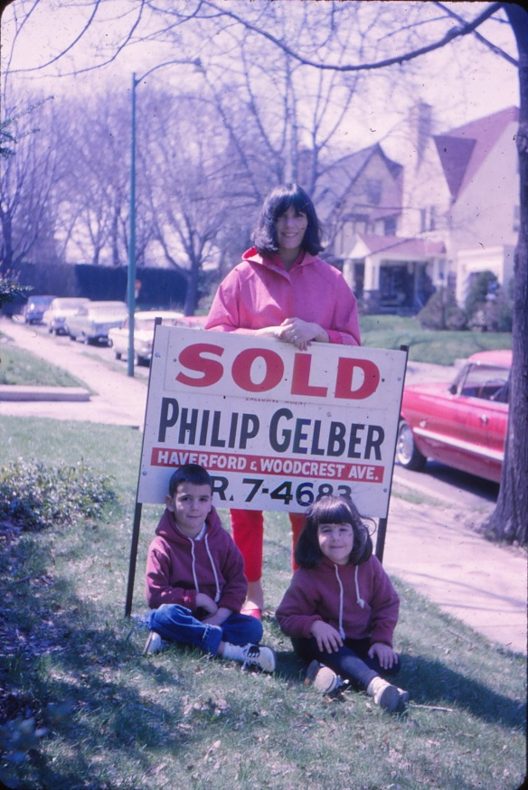 Just bought a house! Mom, Dale and I on Upland Road in spring 1965.