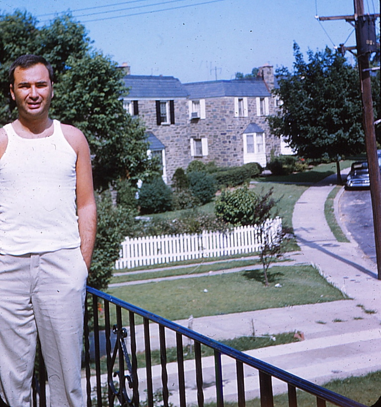 Here's dad standing in the same spot - in 1959.  How similar it all looks.